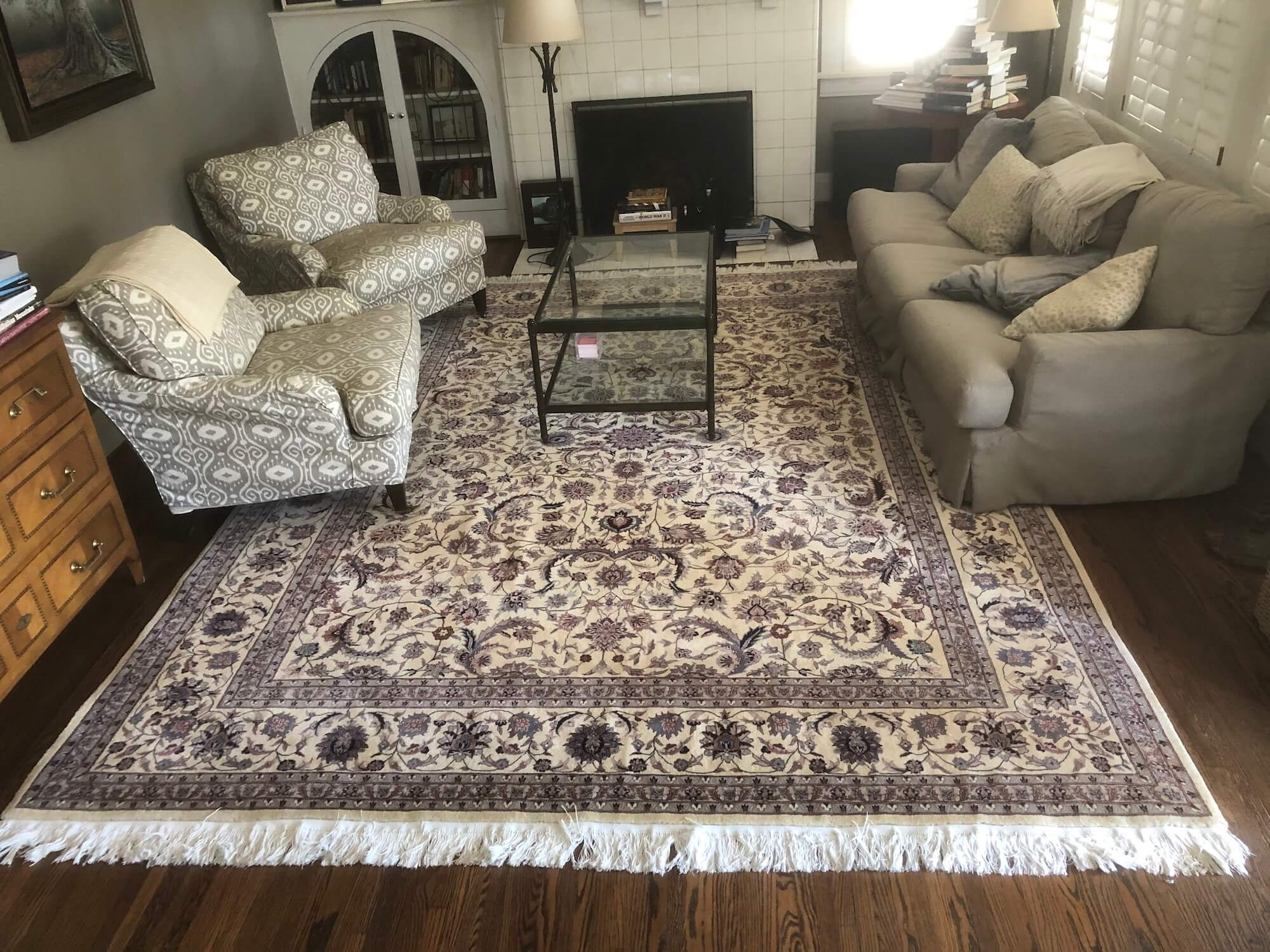Chem-Dry Cleaned Oriental Rug